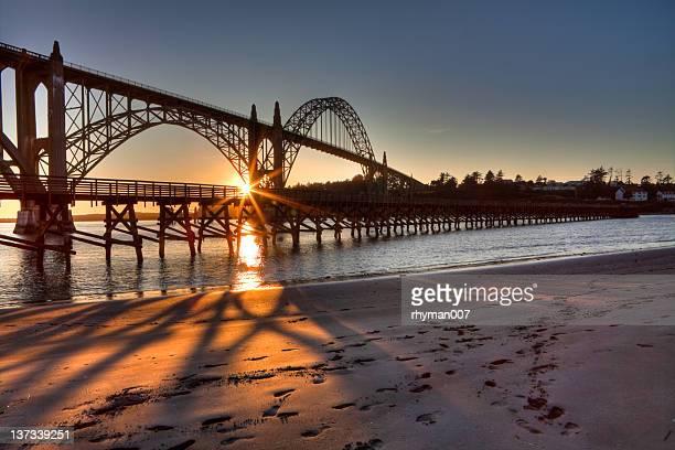 Newport Bay Bridge at Sunset