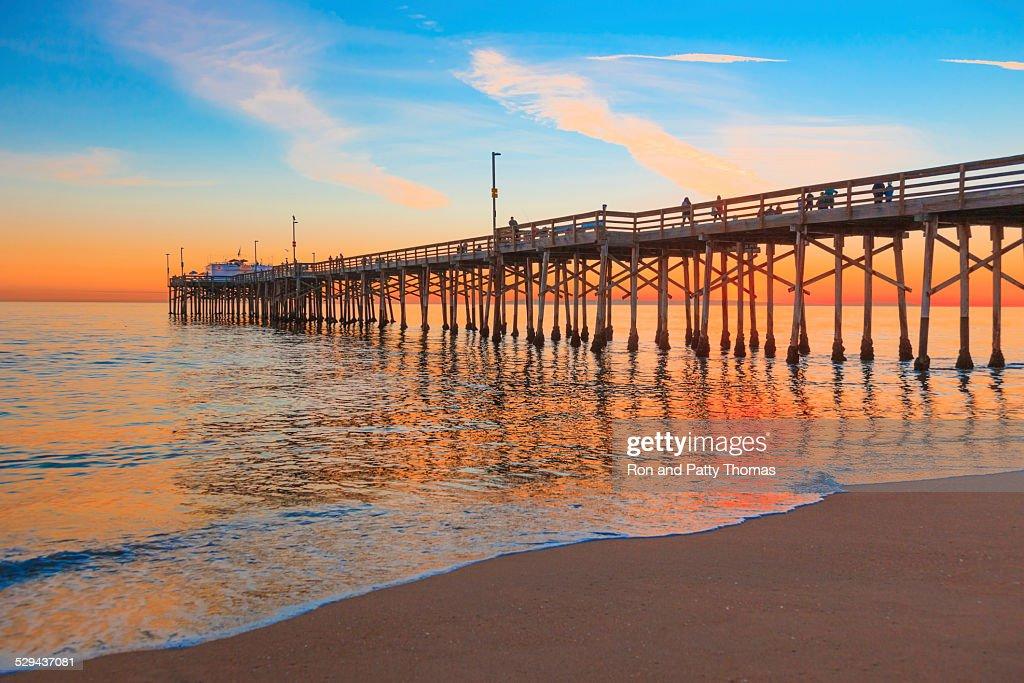 Newport Beach Balboa Pier, RTE 1,Orange County California : Stock Photo