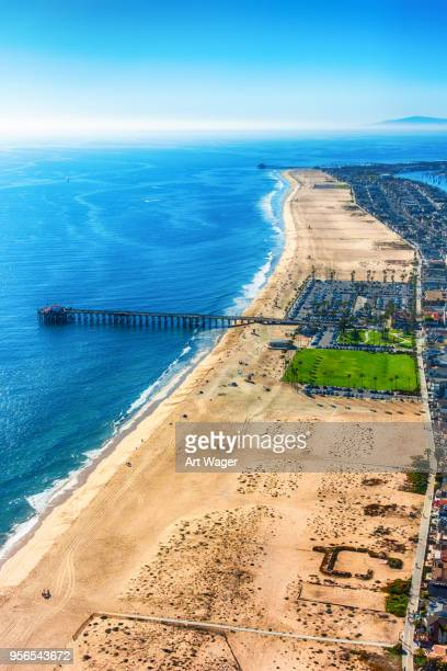 newport beach california aerial - newport beach stock pictures, royalty-free photos & images