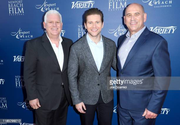 Newport Beach Company President and CEO Gary Sherwin Allen Leech and NBFF CEO Gregg Schwenk attend the Newport Beach Film Festival Fall Honors And...