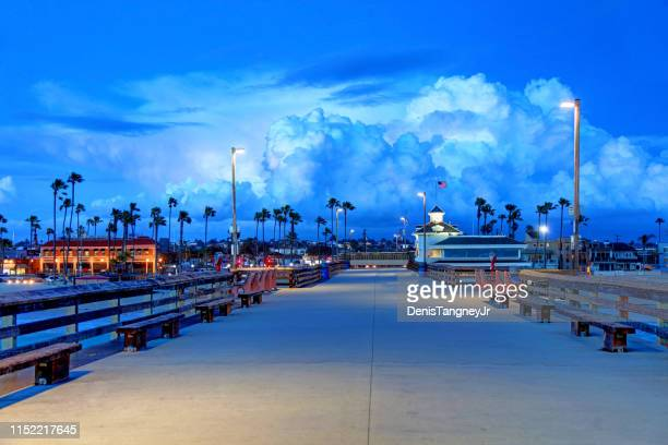 newport beach pier - newport beach stock pictures, royalty-free photos & images