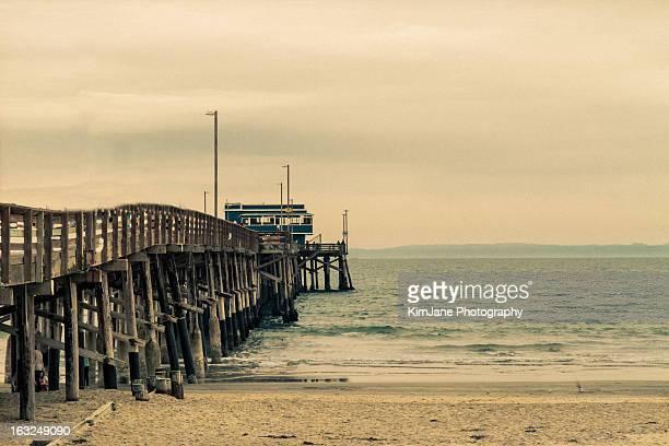 newport beach pier - newport beach california stock photos and pictures