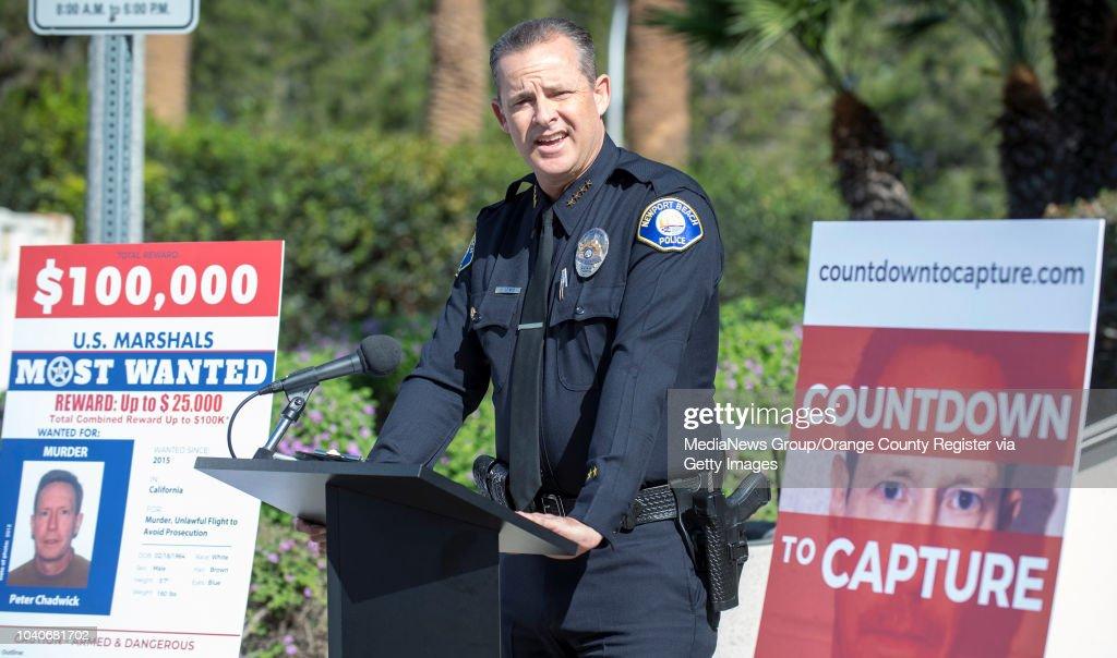 Newport Beach Police Department Chief of Police Jon T  Lewis speaks