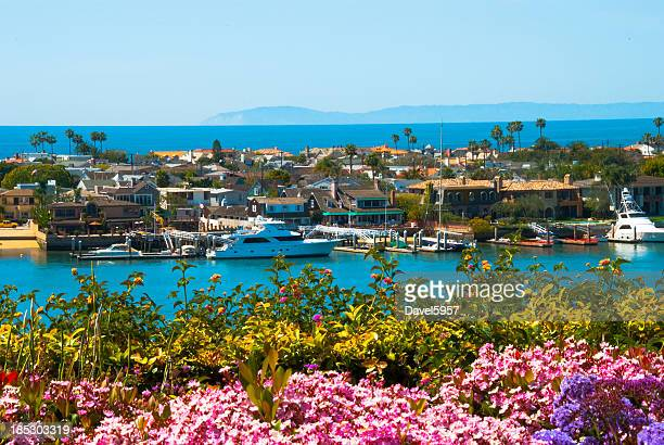 newport beach scene - newport beach stock pictures, royalty-free photos & images