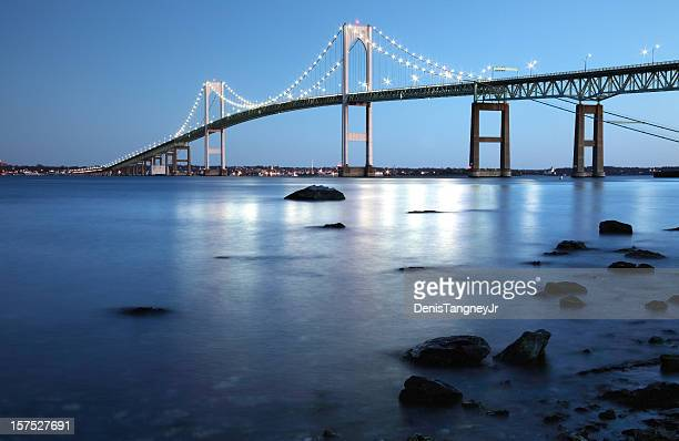 newport bridge rhode island - newport rhode island stock pictures, royalty-free photos & images