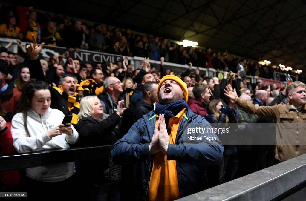 Newport County AFC v Manchester City - FA Cup Fifth Round : News Photo