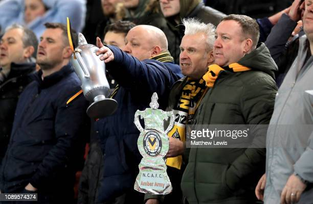 Newport County fans react during the FA Cup Fourth Round match between Middlesbrough and Newport County AFC at Riverside Stadium on January 26 2019...