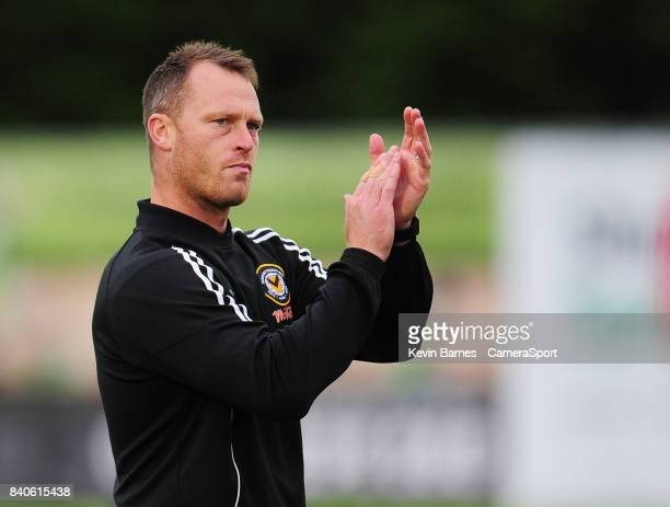 Newport County manager Michael Flynn during the Checkatrade Trophy Southern Section Group E match between Forest Green Rovers and Newport County on...