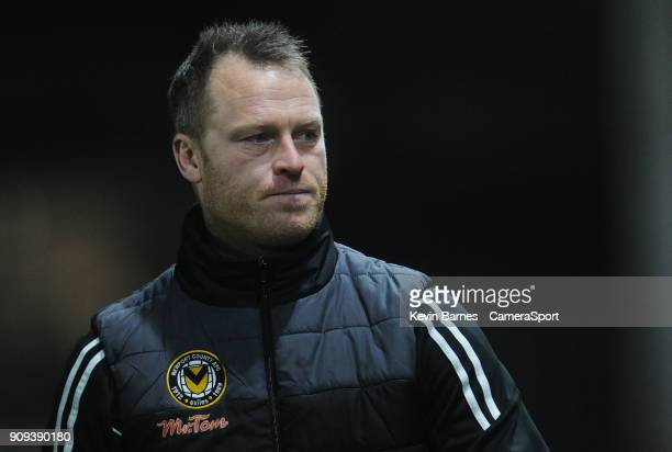 Newport County manager Michael Flynn during the Sky Bet League Two match between Newport County and Morecambe at Rodney Parade on January 23 2018 in...