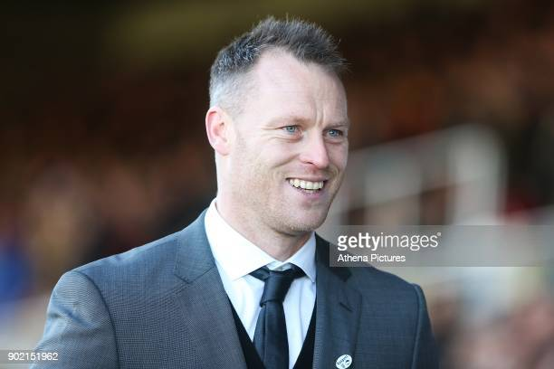 Newport County manager Michael Flynn prior to kick off of the Fly Emirates FA Cup Third Round match between Newport County and Leeds United at Rodney...