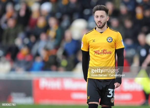 NEWPORT WALES MARCH Newport County's Josh Sheehan during the Sky Bet League Two match betweenNewport County and Luton Town at Rodney Parade on March...