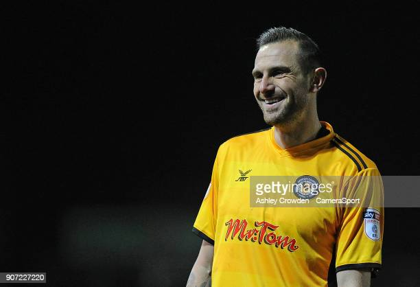 NEWPORT WALES JANUARY Newport County's Paul Hayes during the Sky Bet League Two match between Newport County and Crawley Town at Rodney Parade on...