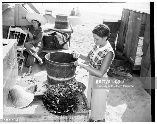 Newport fish market 1955 Mrs Mildred van RiderMrs Emilie McCarthyMrs Melba BrewerMiss Glenda DodsonCarl MarberryMrs William RubidouxMrs Tom...