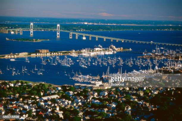 newport harbor - newport rhode island stock pictures, royalty-free photos & images