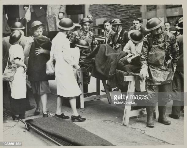 Newport 's Practice Air Raid, A large scale A.R.P. Exercise was carried out at Newport when all the services took part in the demonstration. -...