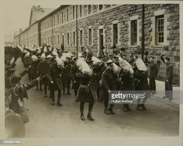 Newport Soldiers off to India G Battery the RHA left Newport Barracks today en route for India Leaving the barracks Newport South Wales