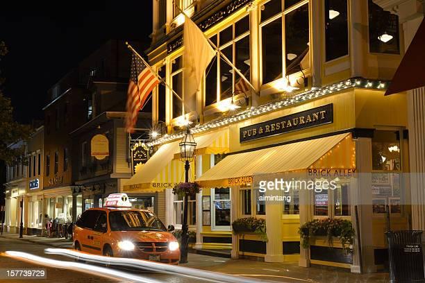 Newport Street at Night