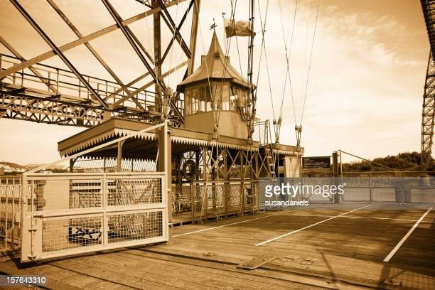Newport Transporter Bridge Gondola in sepia