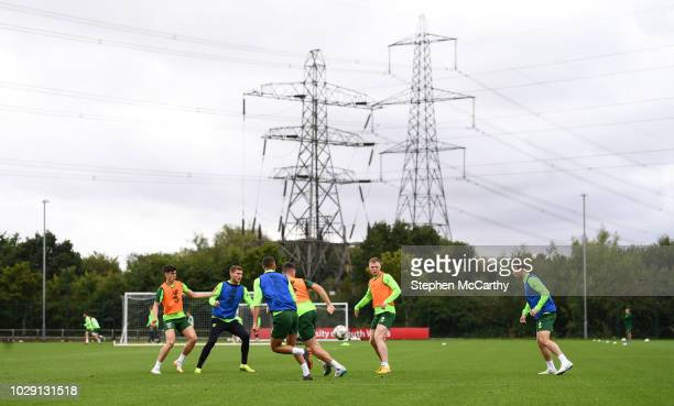 Newport , United Kingdom - 8 September 2018; A general view of a Republic of Ireland training session at Dragon Park in Newport, Wales.