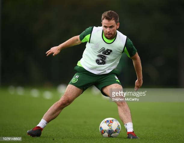 Newport United Kingdom 8 September 2018 Alan Judge during a Republic of Ireland training session at Dragon Park in Newport Wales