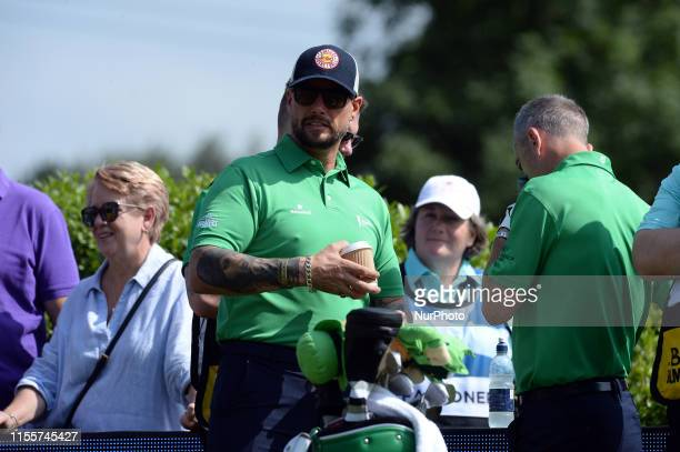 Newport Wales 14th July Boyzone band member Keith Duffy during the Bulmers Celebrity Cup at Celtic Manor Newport on Sunday 14th July 2019