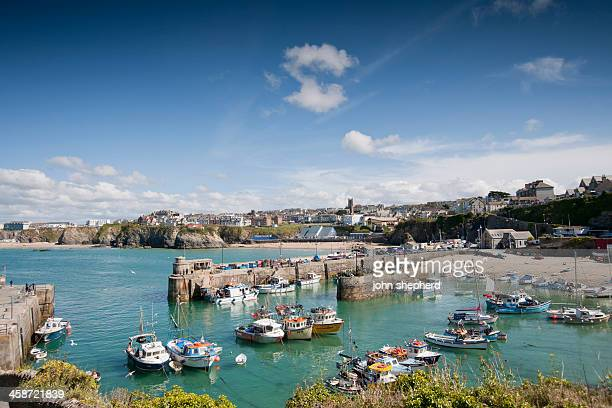 newquay harbour - newquay stock pictures, royalty-free photos & images