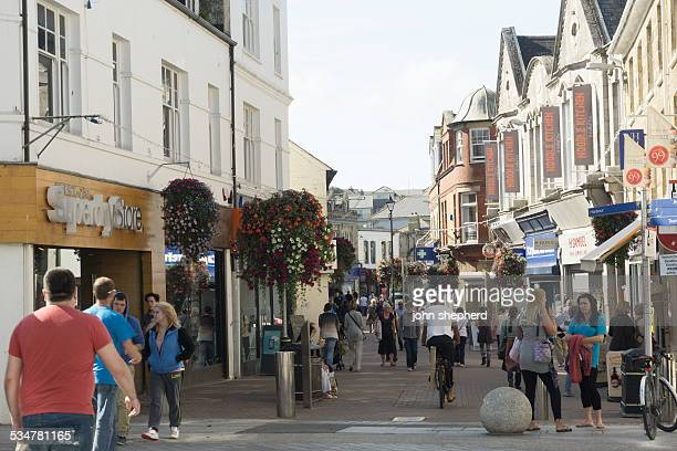 newquay town centre - newquay stock pictures, royalty-free photos & images