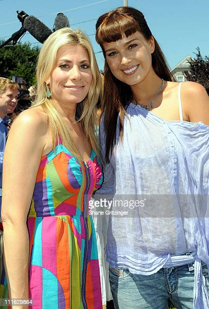 News 12 Long Island Entertainment Reporter Gina Glickman and Model Petra Nemcova attend the 19th Annual Family Day Wild Wild West Carnival at the...