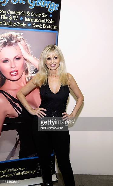 NBC News 2008 National Big Apple Comic Book Art Toy SciFi Expo Pictured Former Playboy Playmate Cathy St George attends the 2008 National Big Apple...