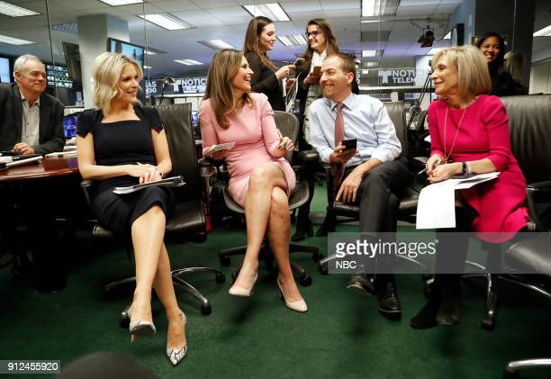 NBC NEWS SPECIALS 'NBC News 2018 State of the Union Coverage' Pictured Megyn Kelly Savannah Guthrie Chuck Todd Andrea Mitchell