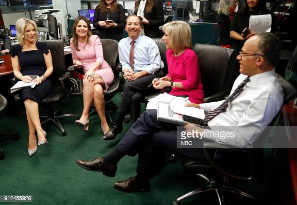 NBC NEWS SPECIALS 'NBC News 2018 State of the Union Coverage' Pictured Megyn Kelly Savannah Guthrie Chuck Todd Andrea Mitchell Lester Holt