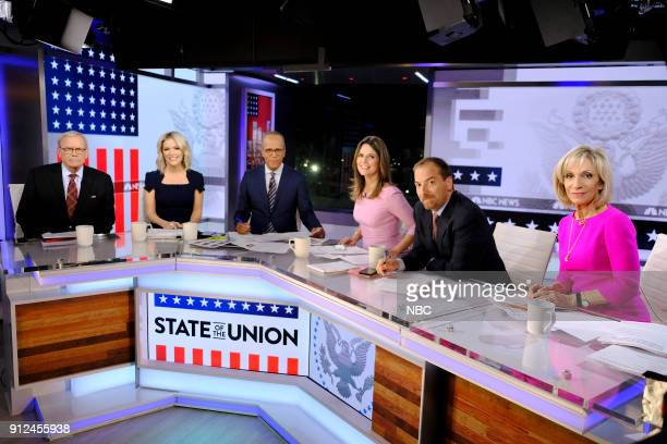 NBC NEWS SPECIALS 'NBC News 2018 State of the Union Coverage' Pictured Tom Brokaw Megyn Kelly Lester Holt Savannah Guthrie Chuck Todd Andrea Mitchell