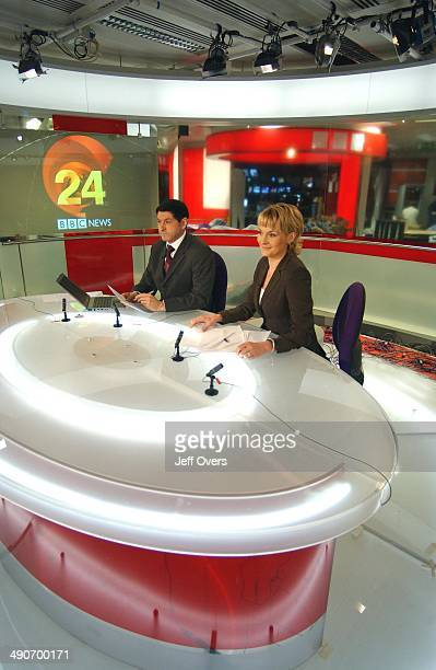 News 24 presenters Jon Sopel and Louise Minchin