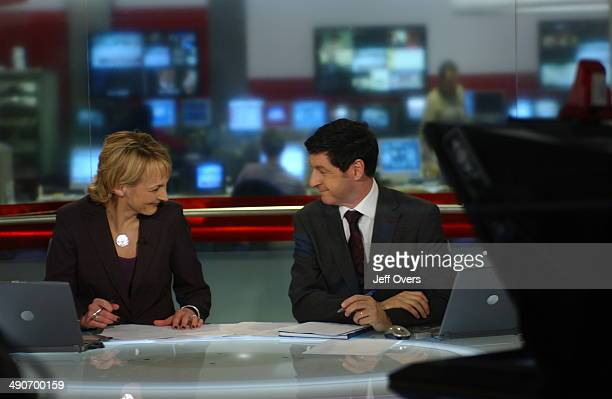 News 24 presenters Louise Minchin and Jon Sopel