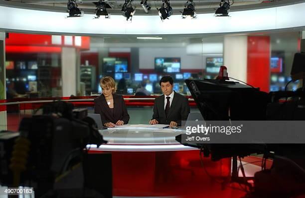 News 24 presenters Louise Minchin and Jon Sopel