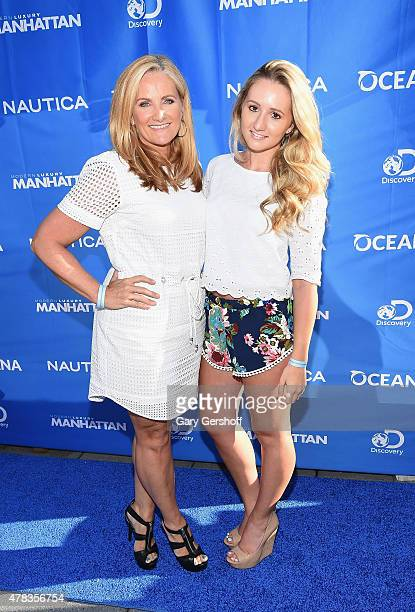 TV news anchor Alex Witt and daughter Caroline Sorenson attend the 2015 Nautica Oceana City Sea Party at Gansevoort Park Avenue on June 24 2015 in...