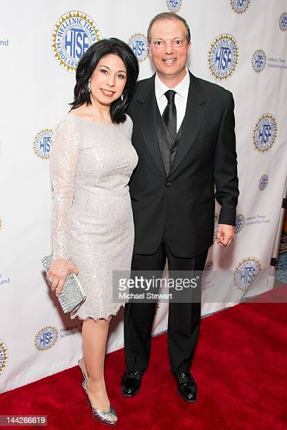 News Anchor Alexis Christoforous and husband attend the Hellenic Times Scholarship Fund 21st Anniversary Gala at Marriott Marquis Theater on May 12...