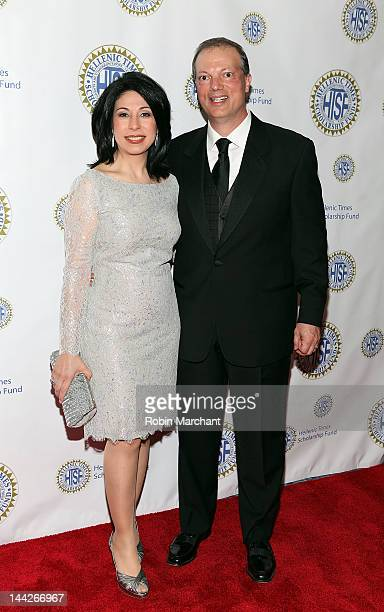 News Anchor Alexis Christoforous and husband attend The Hellenic Times Scholarship Fund Gala at The New York Marriott Marquis on May 12 2012 in New...