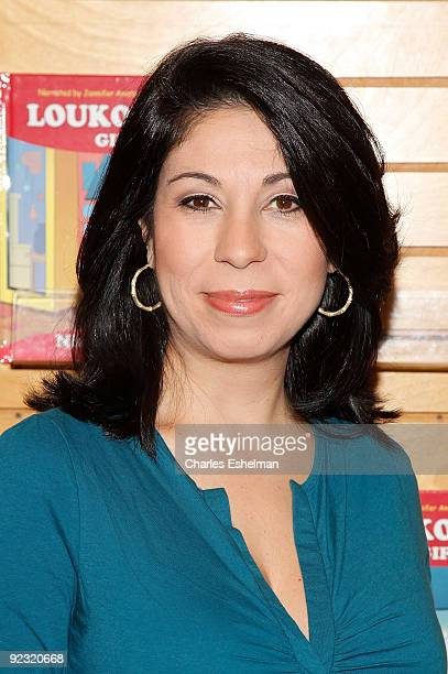 News anchor Alexis Christoforous attends 'Loukoumi's Gift' book launch at Barnes Noble Lincoln Center on October 24 2009 in New York City