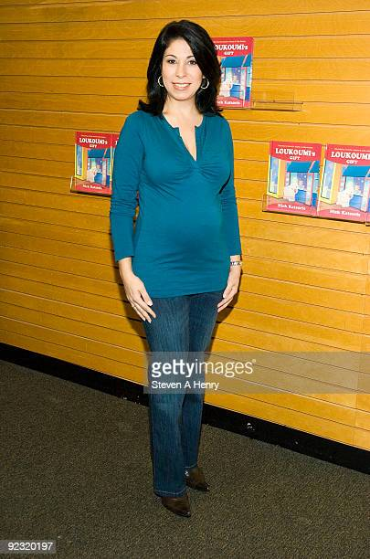 News anchor Alexis Christoforous attends 'Loukoumi's Gift' narrated by Jennifer Aniston at Barnes Noble Lincoln Center on October 24 2009 in New York...