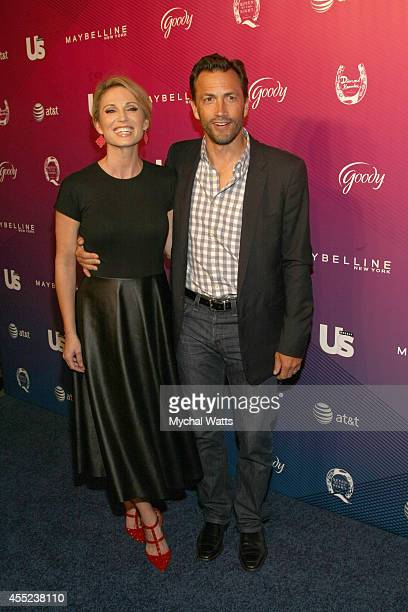 News Anchor Amy Robach and Actor Andrew Shue attends Us Weekly's 2014 Most Stylish New Yorkers Celebration>> at Diamond Horseshoe at the Paramount...