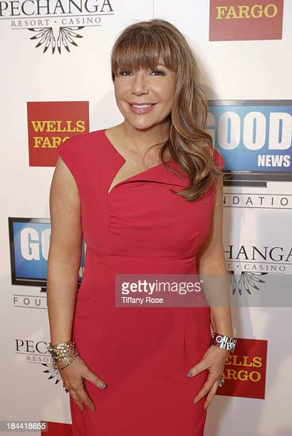 News anchor Ana Garcia attends the Good News Foundation's Feel Good event of the year honoring Maria Shriver with the Lifetime Achievement Award at...