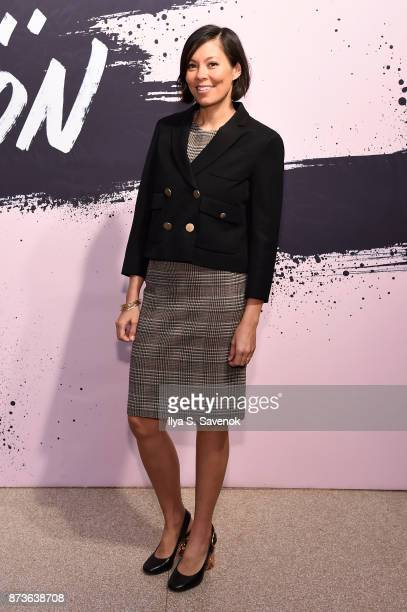 CBS news anchor and contributing editor at The Atlantic Alex Wagner poses during Glamour Celebrates 2017 Women Of The Year Live Summit at Brooklyn...