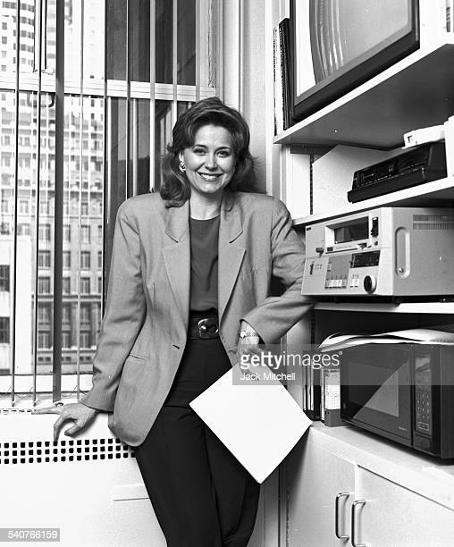 NBC News anchor and journalist Jane Pauley photographed in her office on June 13 1990