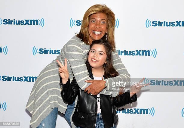 TV news anchor and radio host Hoda Kotb and singer Sophia Grace Brownlee visit SiriusXM Studios on June 27 2016 in New York City