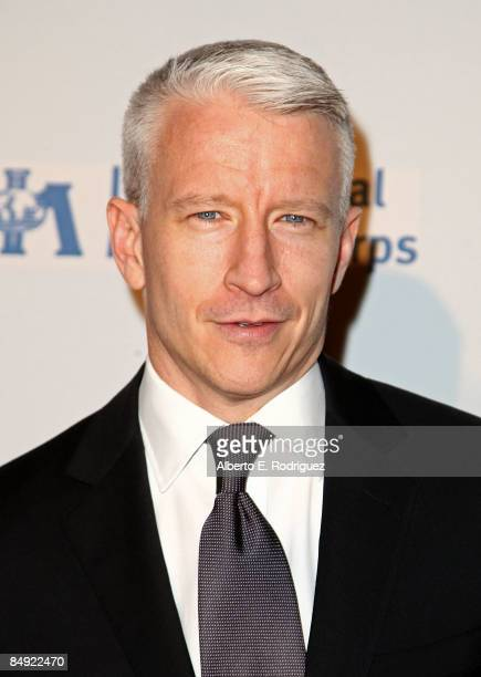 News anchor Anderson Cooper arrives at the Children Mending Hearts gala honoring International Medical Corps at the House of Blues on February 18...