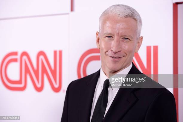CNN news anchor Anderson Cooper attends the 2014 TCA Winter Press Tour CNN AfterParty on January 10 2014 in Pasadena California