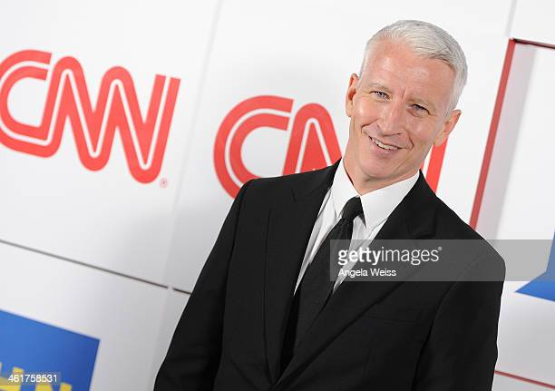 CNN news anchor Anderson Cooper attends the CNN Worldwide AllStar 2014 Winter TCA Party at Langham Hotel on January 10 2014 in Pasadena California