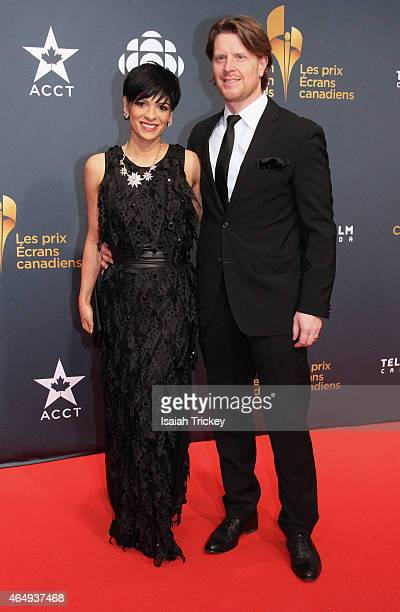News Anchor AnneMarie Mediwake and Daryl Konynenbelt arrive at the Canadian Screen Awards at The Four Season Centre of the Performing Arts on March 1...