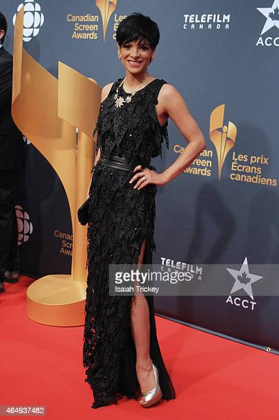 News Anchor AnneMarie Mediwake arrives at the Canadian Screen Awards at The Four Season Centre of the Performing Arts on March 1 2015 in Toronto...